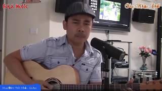 Mưa Đêm Tình  Nhỏ  - Đệm Guitar Solo Cực Hay