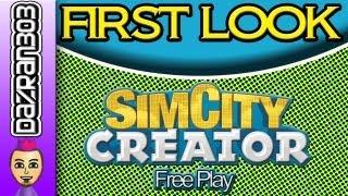 SIM CITY CREATOR Nintendo Wii Free Play Gameplay   FIRST LOOK SERIES