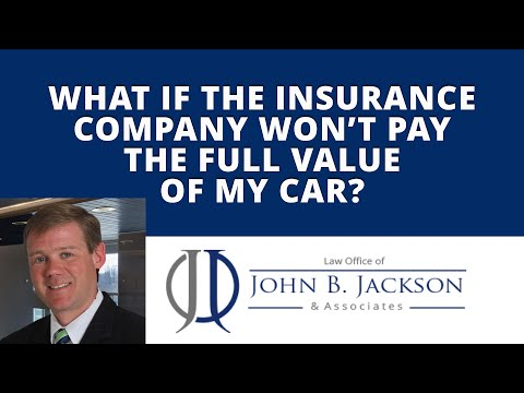 What if the insurance company won't pay the full value of my car?