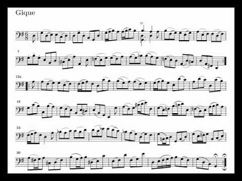 J. S. Bach Cello Suite n. 1 BWV 1007 - 6. Gigue - Piano Transcription [tbpt49]