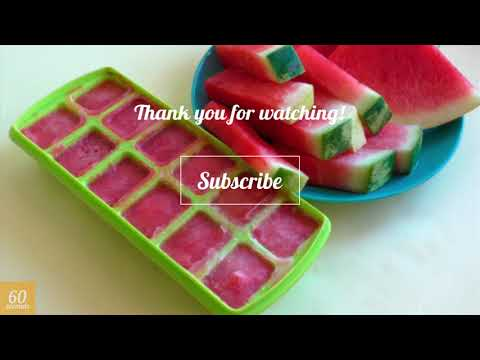 Watermelon Ice for Your Skin. Ice Cubes for Skin Care | In 60 seconds