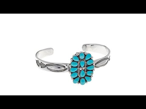 Chaco Canyon Kingman Turquoise Cluster Cuff