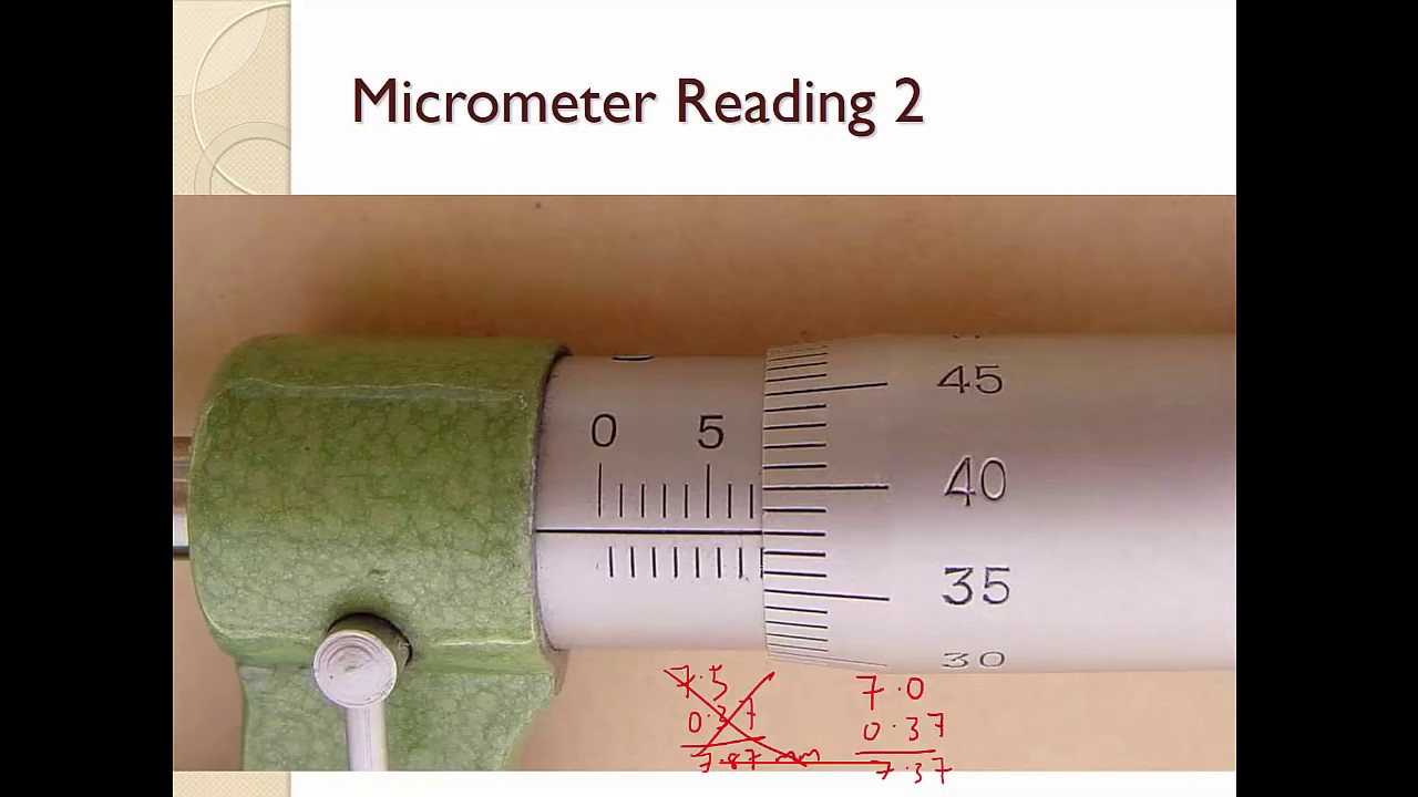 How To Use And Read A Micrometer Screw Gauge
