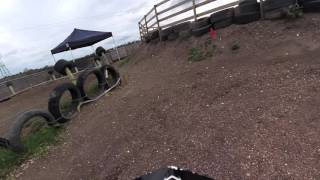 The ranch kids motocross track video 1. Onboard with Declan May 2016