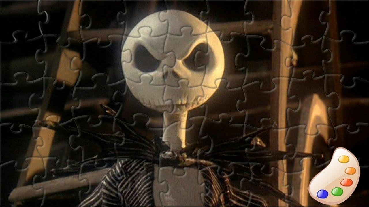 The Nightmare Before Christmas Jack Skellington Kids Puzzle Game ...