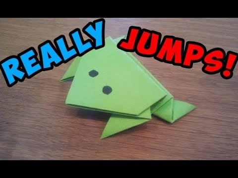 How To Make a Paper Jumping Frog - EASY Origami