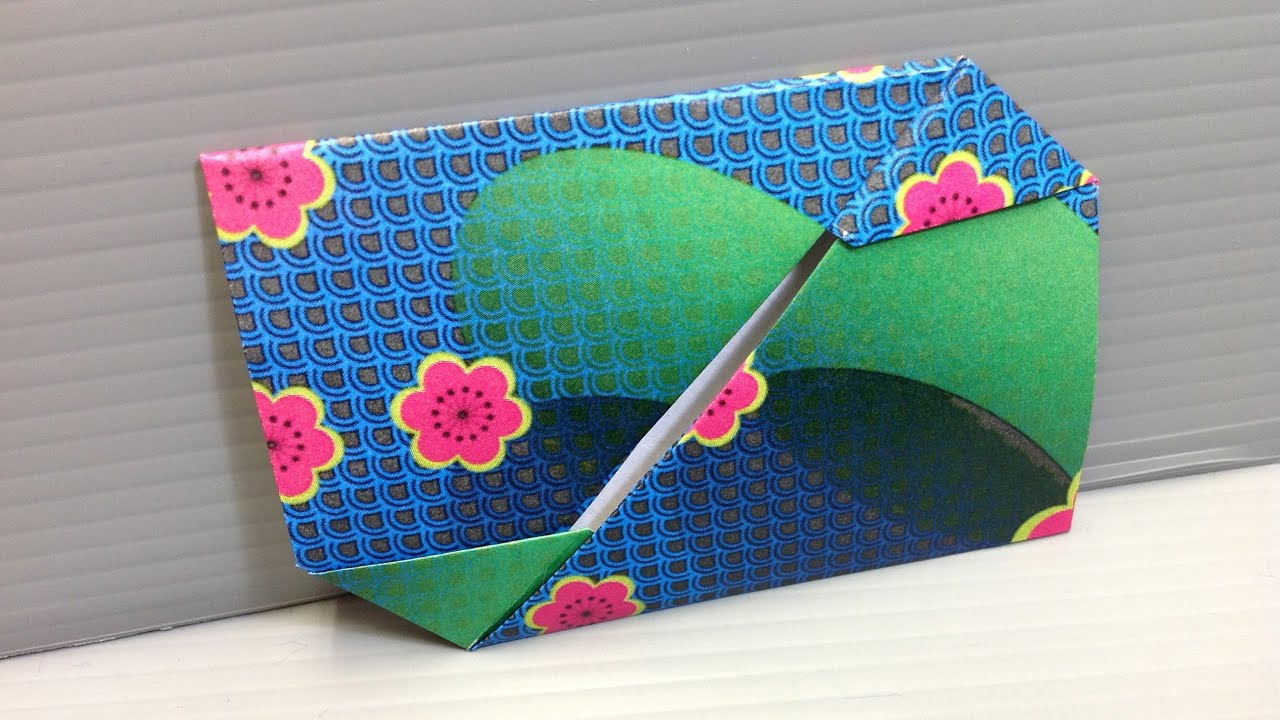 free origami paper - print your own  - reverse flower yuzen