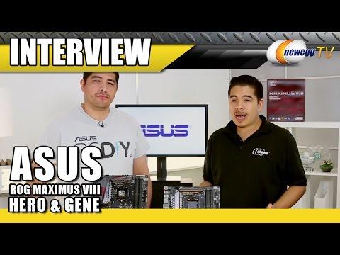 ASUS ROG Maximus VIII Hero & Gene Interview - Newegg TV