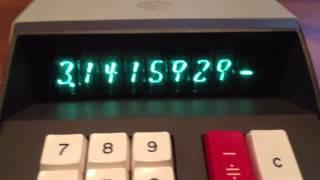 Weird Nixie Tube Calculator (Burroughs C3155, 1971.)