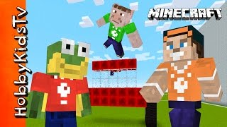 HobbyKids Have a Minecraft HobbyBuild Challenge! Who Builds the Best Item?