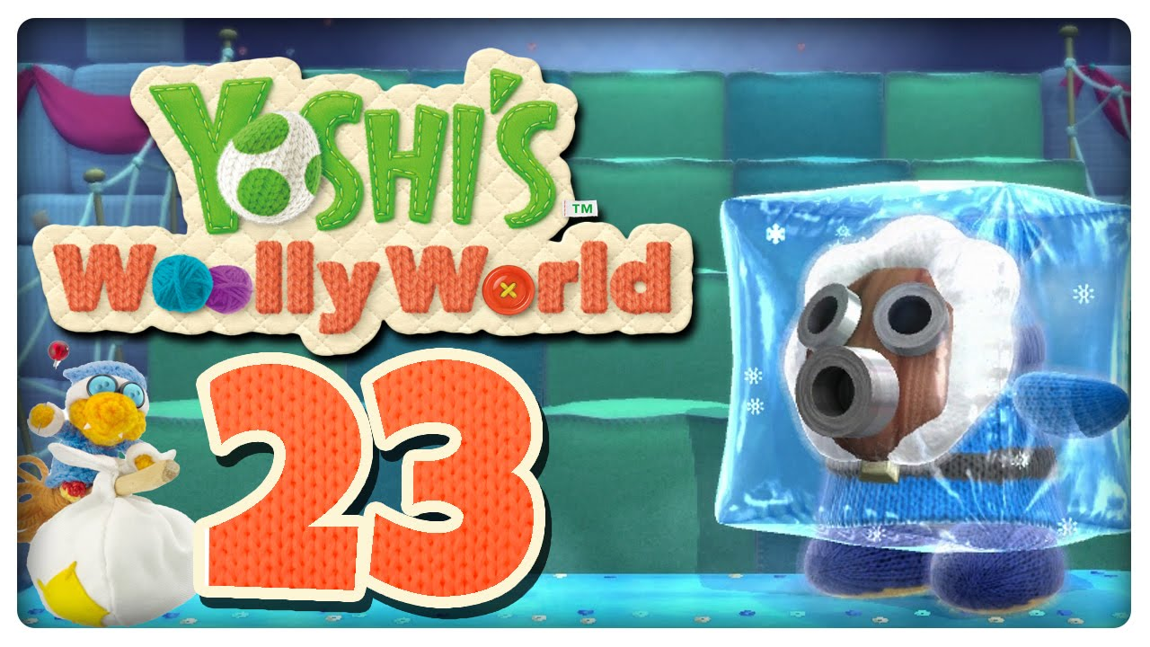 let 39 s play yoshi 39 s woolly world part 23 eiszeit in eisberg snifits schloss youtube. Black Bedroom Furniture Sets. Home Design Ideas