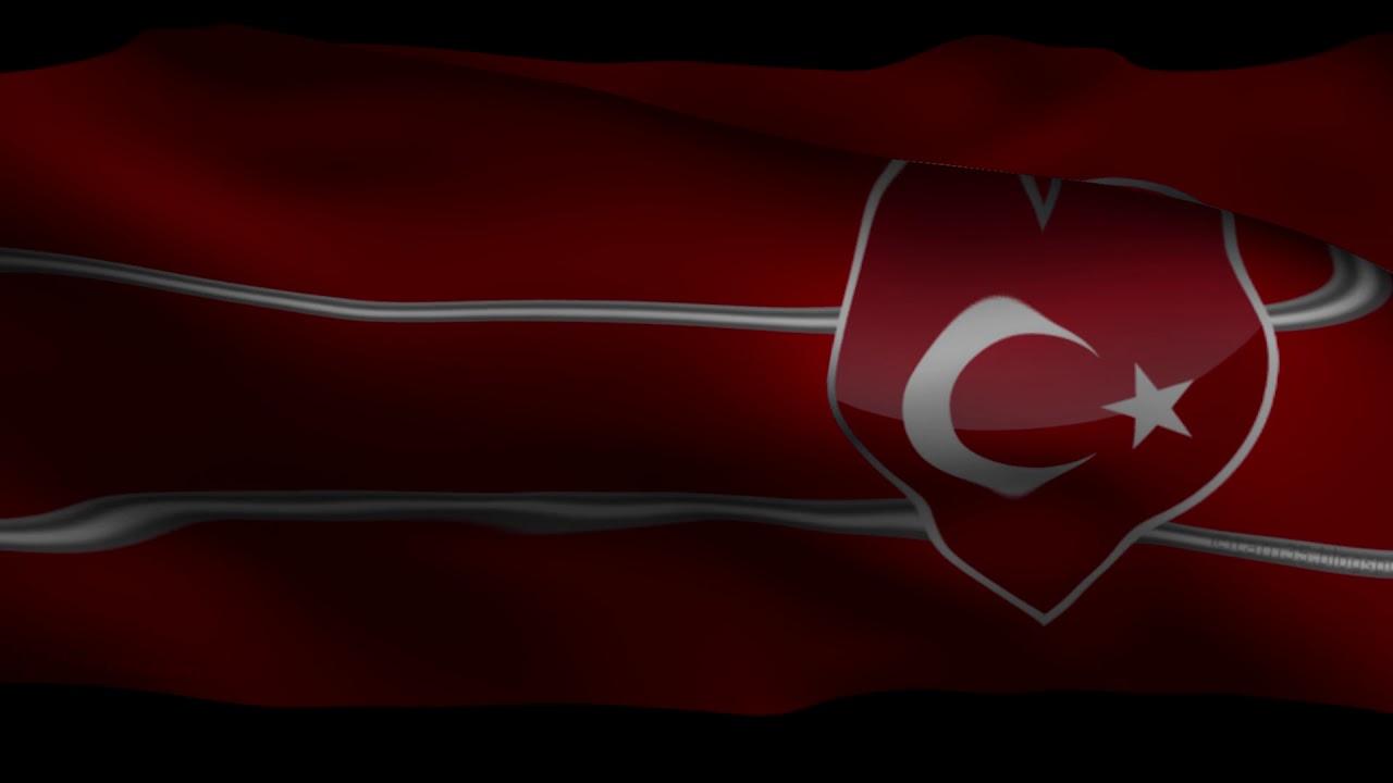 Dalgalanan TÜRK Bayrağı 1080p FullHD Türkiye Turkey Flag ...