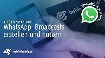 WhatsApp: So einfach funktionieren Broadcasts