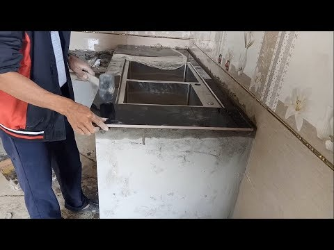 Lazy Ceramic Tile for Kitchen Countertops - How to Install Ceramic Kitchen Countertop