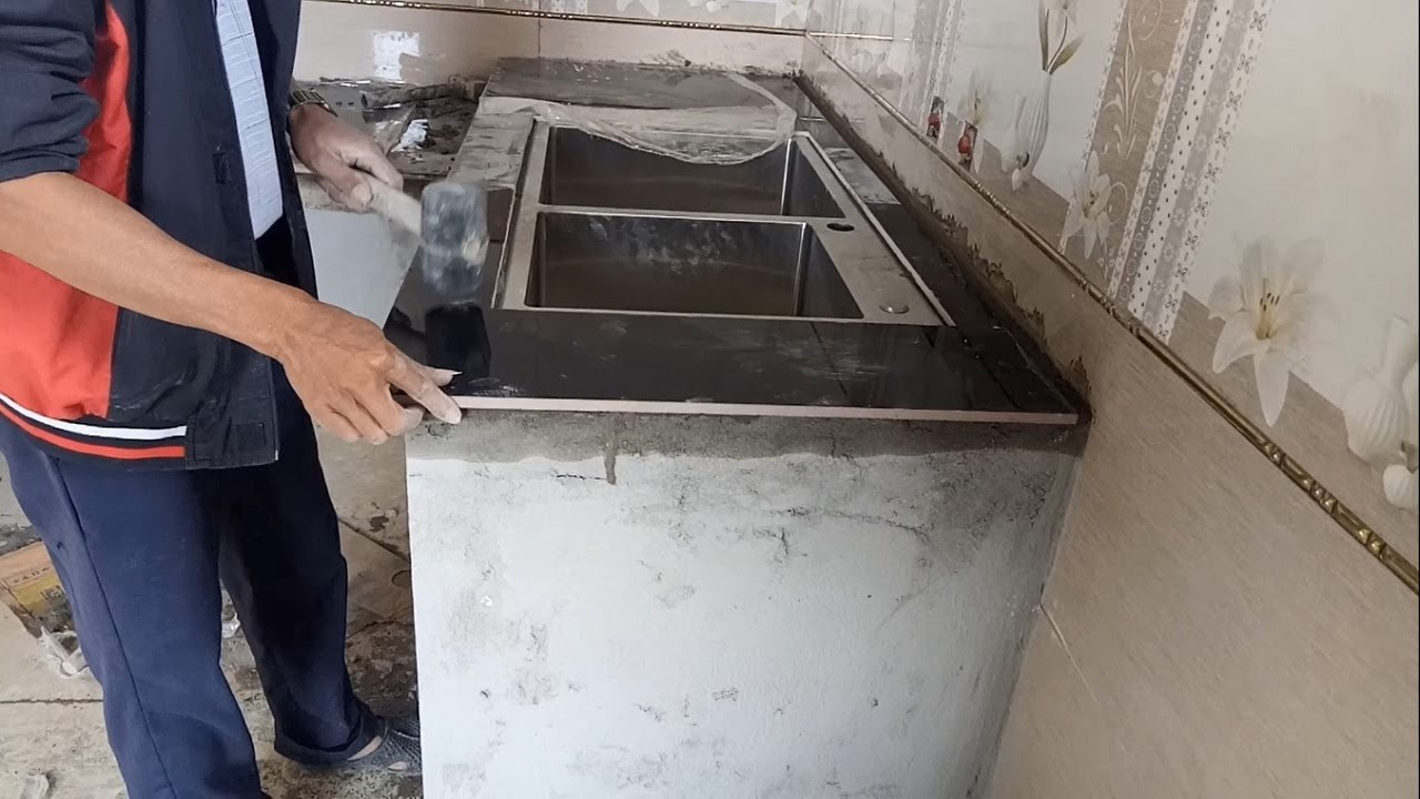 ceramic tile kitchen steel island lazy for countertops how to install countertop