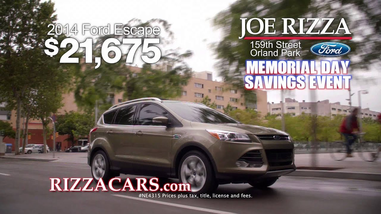 Joe Rizza Ford Orland Park Memorial Day Savings Event Youtube