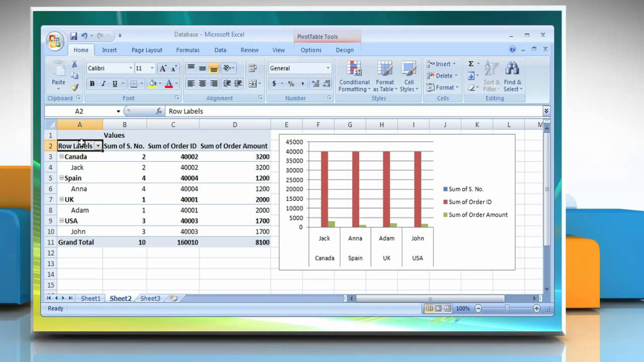 how to delete table in excel 2007