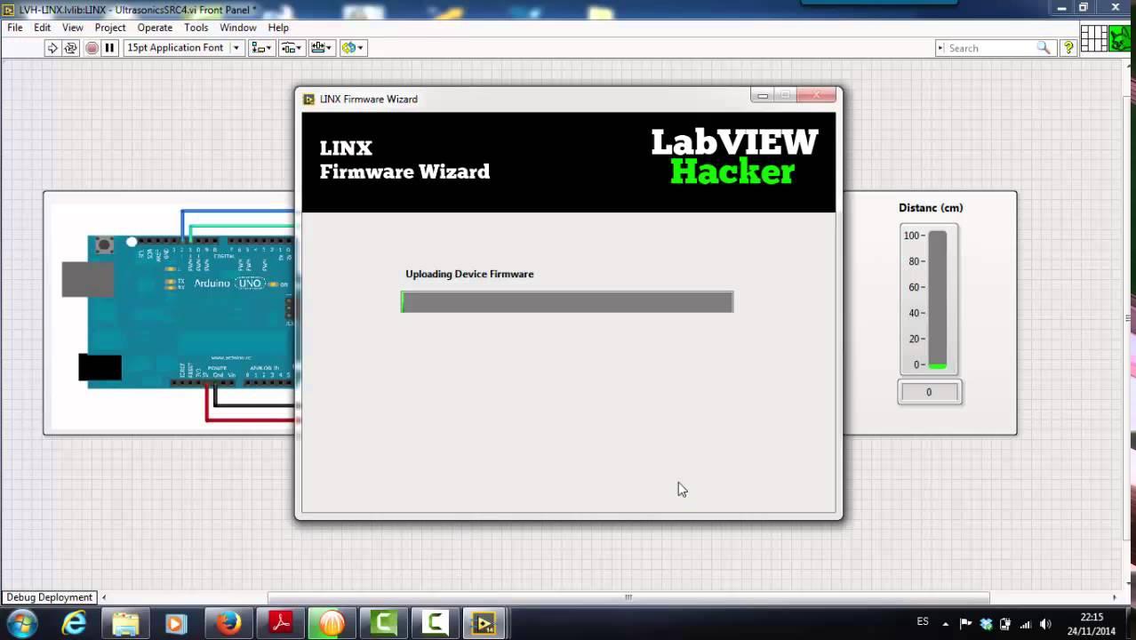 Labview Y Arduino Con Linx Ejemplo Con El Sensor De