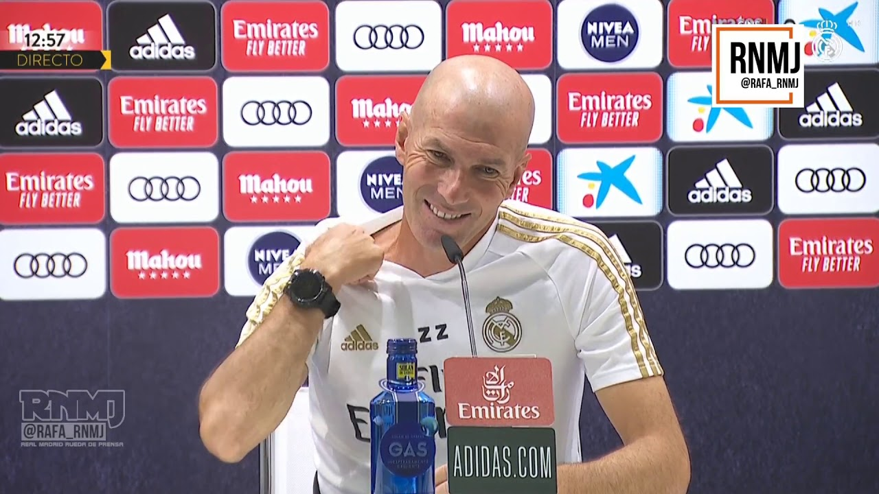 Rueda de prensa de ZIDANE previa Real Madrid - Getafe (01/07/2020)