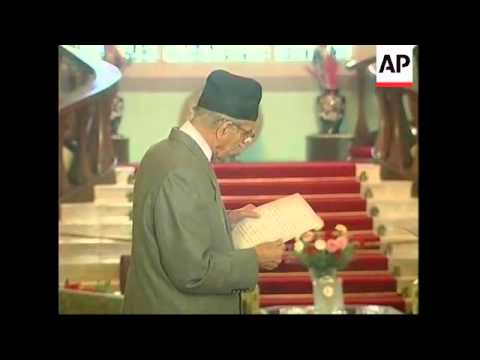 Koirala sworn in by king for fifth stint as PM