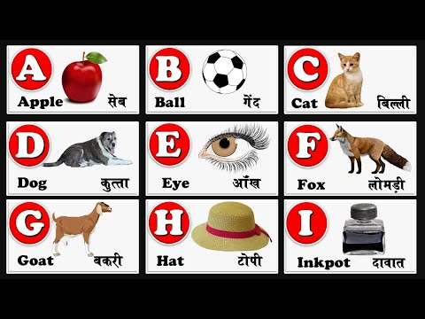 English Alphabet With Hindi Meaning | English Alphabet A To Z | Abcd | With Pdf File Download |