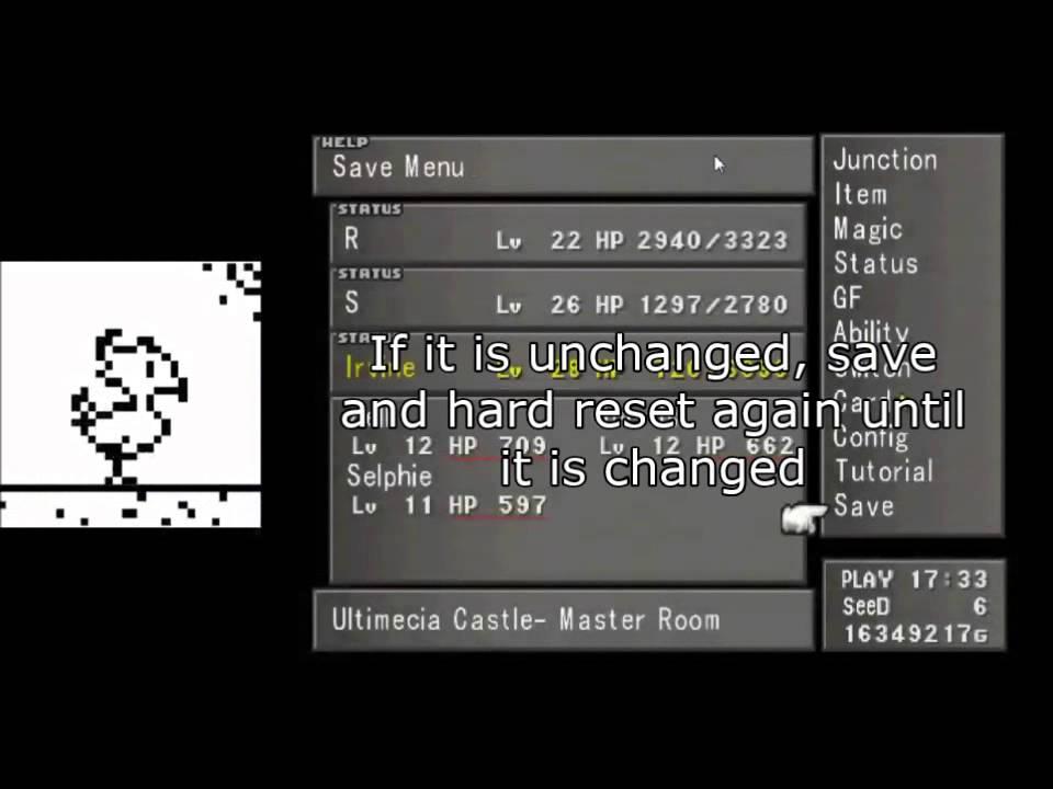 FF8 Chocobo World Item Duplication Glitch (PC Only)