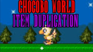 FF8 Chocobo World Item Duplication Glitch (PC Only)