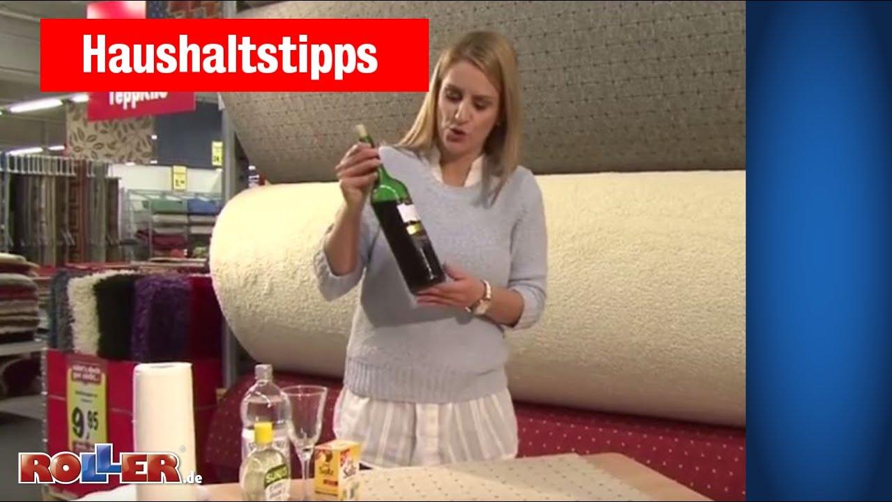 haushaltstipps flecken entfernen rotwein schokolade kerzenwachs youtube. Black Bedroom Furniture Sets. Home Design Ideas