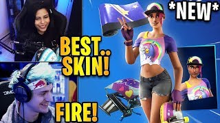 Streamers React to the *NEW* Beach Bomber Skin + Brite Stars Wrap! | Fortnite Highlights