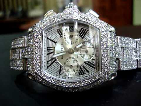 LAX Jewelry Co. 40 Carats Fully Flooded Diamond Cartier Chonograph Rolex Custom Jewelry