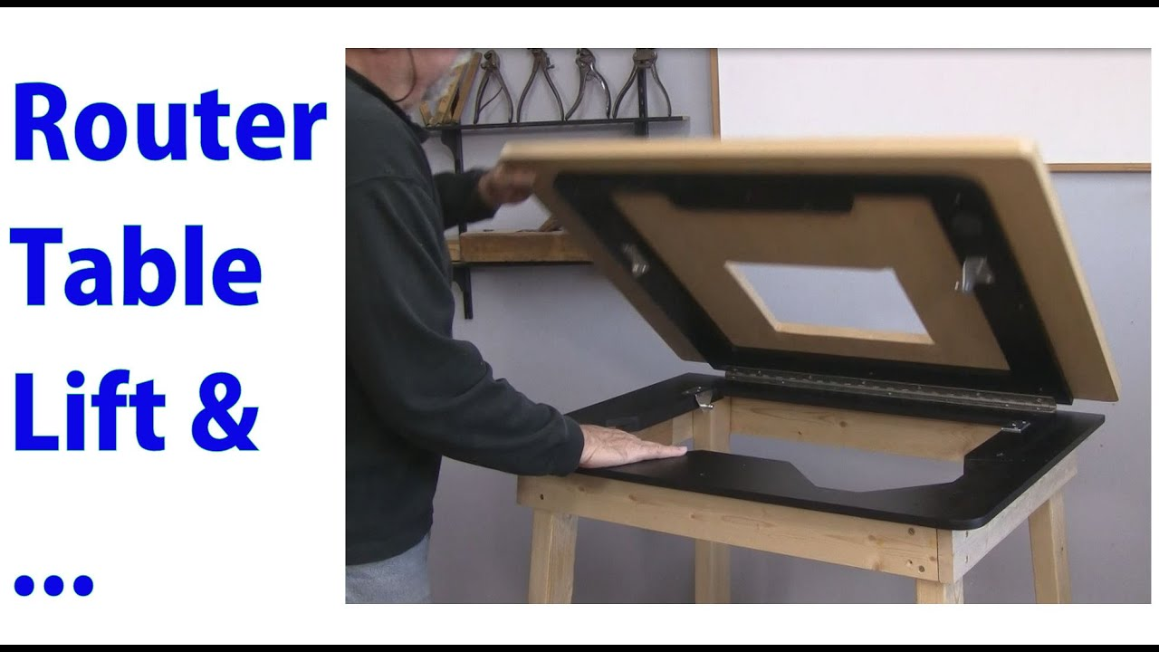 Router table lift and accessories for a woodworking router youtube keyboard keysfo Gallery