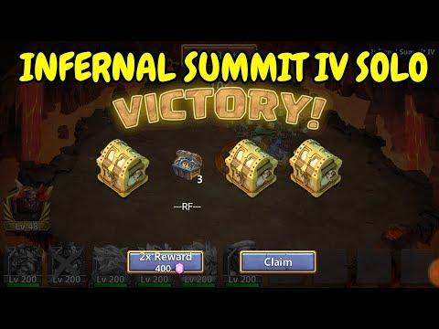 Soloing Infernal Summit LV L Castle Clash