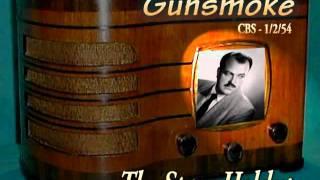"Gunsmoke ""The Stage Holdup"" William Conrad CBS 1/2/54 Oldtime Radio Drama Western"