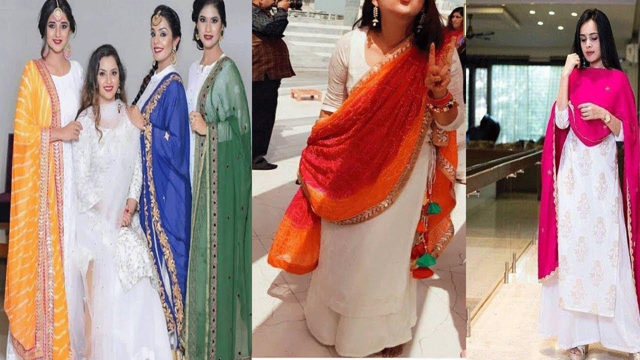 Matching Dupattas For White Kurtas - Telugu Fashion News