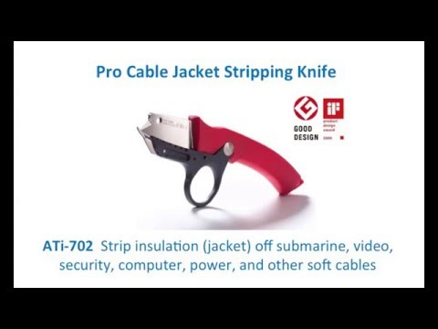Cable Jacket Stripping Knife