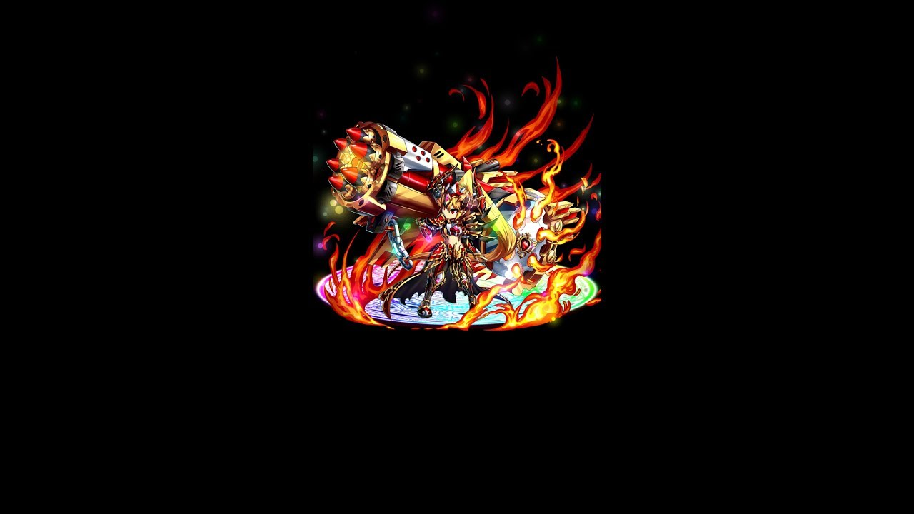 Brave Frontier: Cayena damage test and attack animation (single unit)
