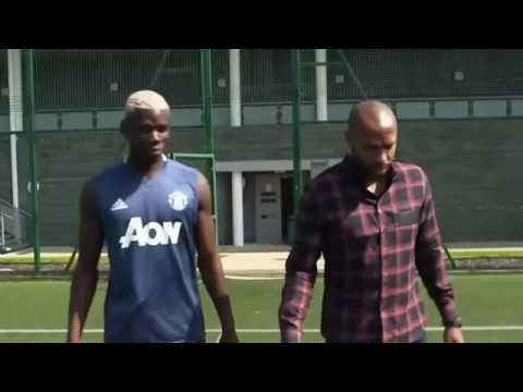 Thierry Henry meets Paul Pogba⚽