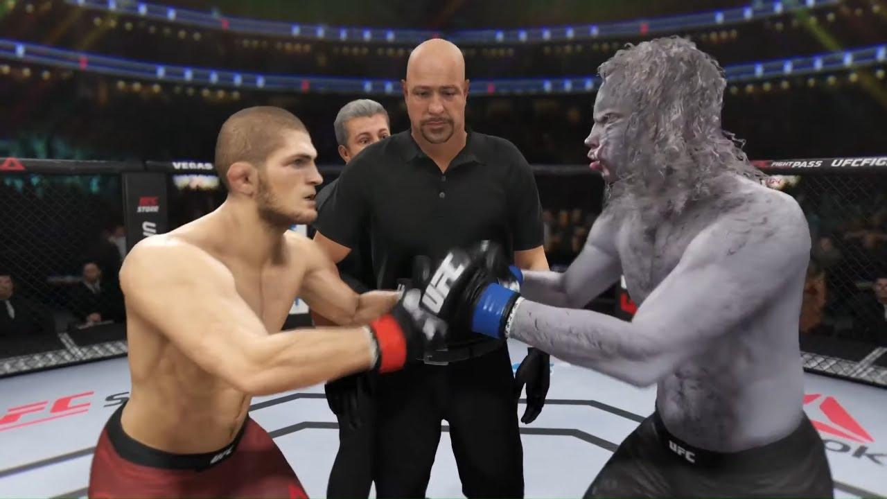Khabib vs. Grey Wolf - EA Sports UFC 3