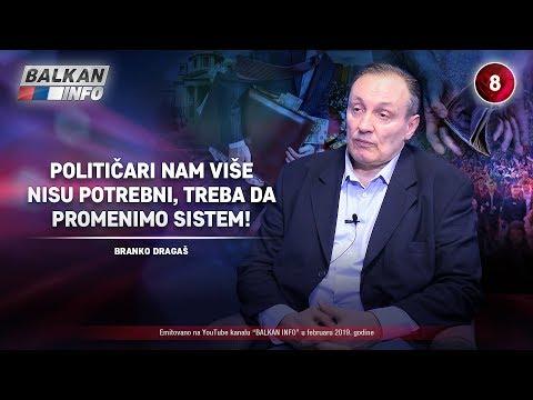 INTERVJU: Branko Dragaš - Političari nam više nisu potrebni, treba da promenimo sistem! (13.2.2019)