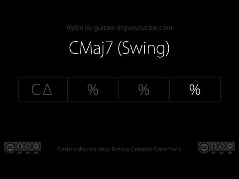 CMaj7 (swing 110 bpm) : Backing track