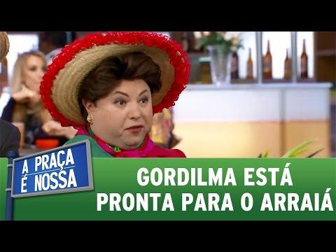 A Praça É Nossa (16/06/16) Gordilma está pronta para o arraiá
