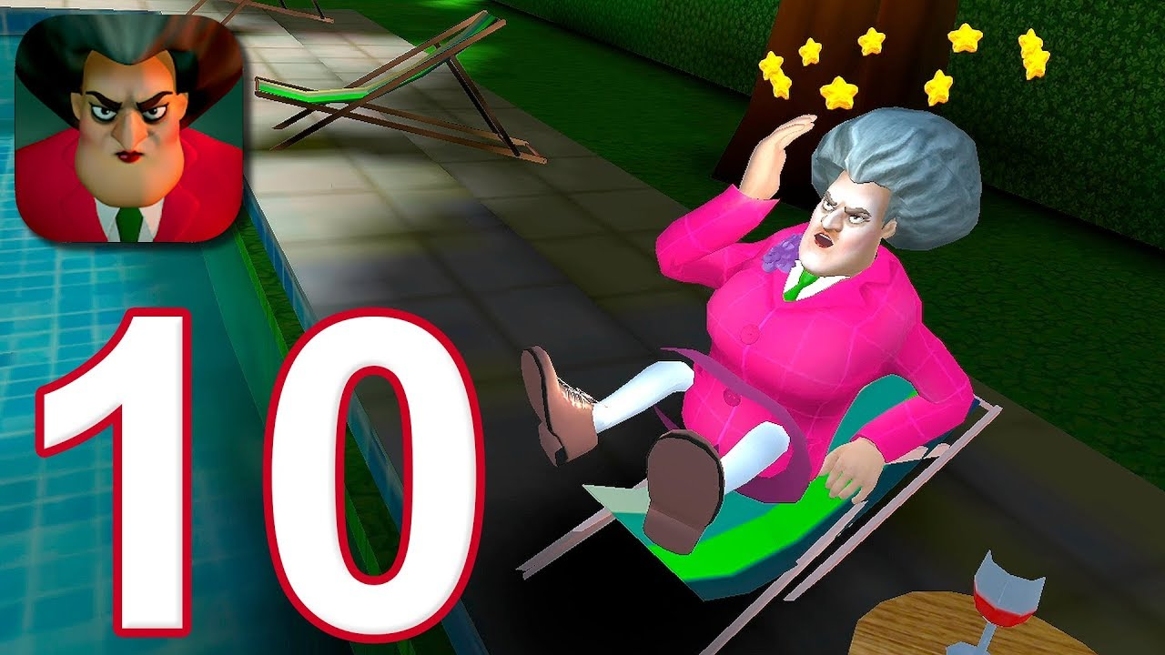 Download Scary Teacher 3D - Gameplay Walkthrough Part 10 - Sun Bath Disaster
