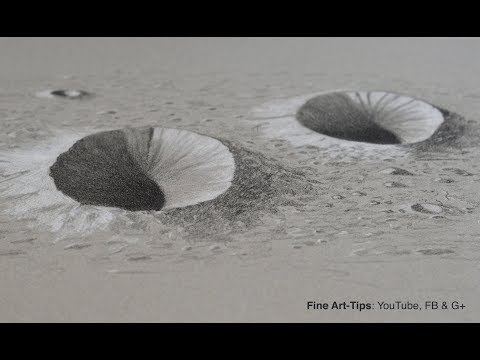 How to Draw Moon Craters in 3D - Very easy