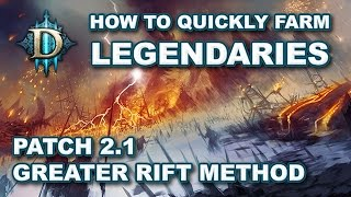D3 RoS: How to Farm Legendaries & Gear Up in 2.1.0 - Greater Rift + Bounty Method