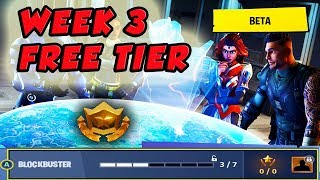 Fortnite Blockbuster Week 3 Challenge | Free Battle Pass Tier