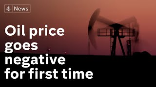Price of a barrel of oil crashes to historic low - with some trading at minus