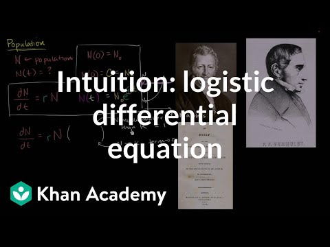 Logistic differential equation intuition   First order differential equations   Khan Academy