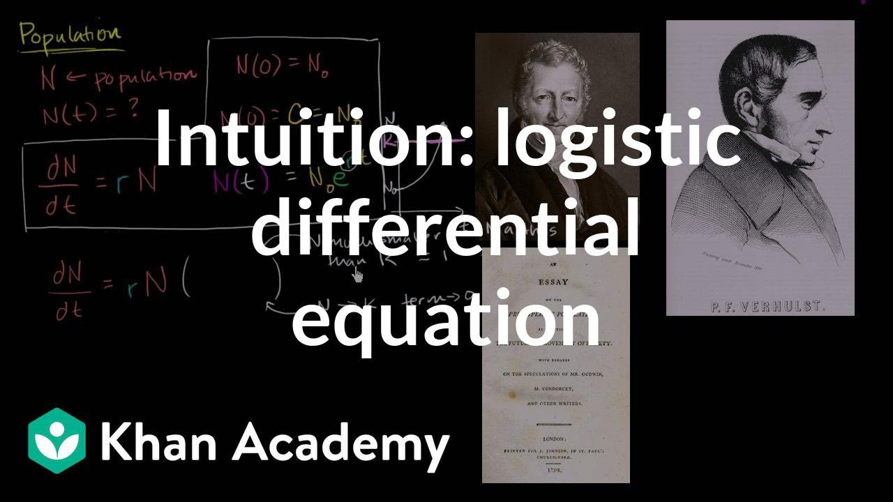 logistic differential equation intuition | first order differential