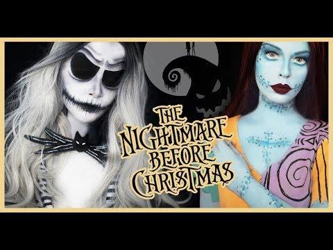 jack and sally the nightmare before christmas makeup tutorial
