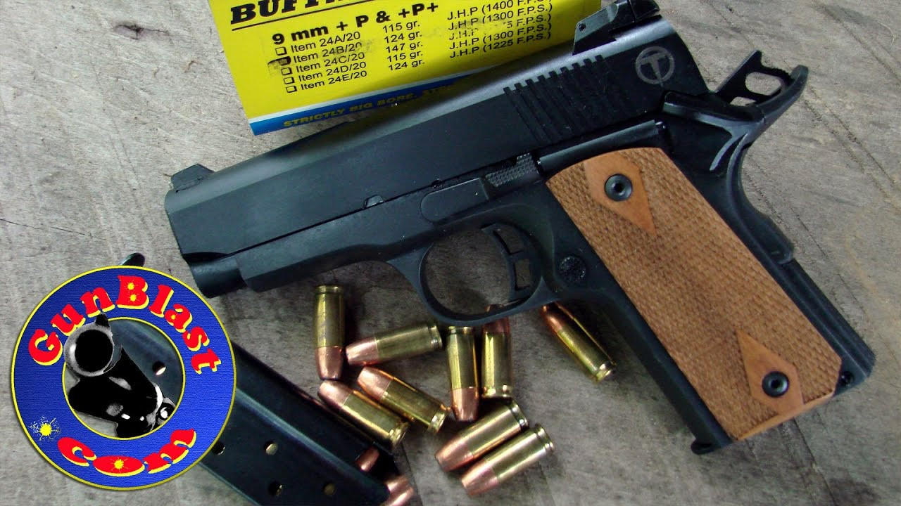 Shooting the Taylor's & Company Compact 9mm 1911 Semi-Automatic Pistol -  Gunblast com